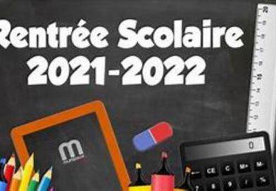 Dates et horaires de rentrée 2021-2022